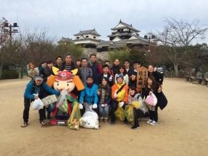 松山城清掃活動写真1