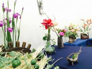粘土の花写真