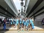 「日本橋」橋洗いに社名入りの法被を着て参加しました!