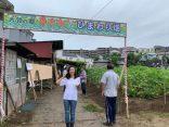 上大岡で開催されるひまわりフェスタの設営に参加しました!